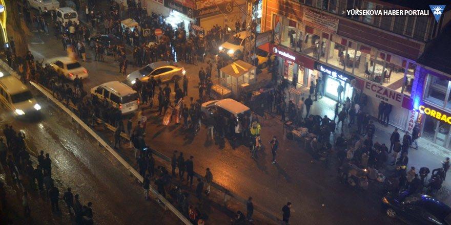 Yüksekova'da Galatasaray kutlaması
