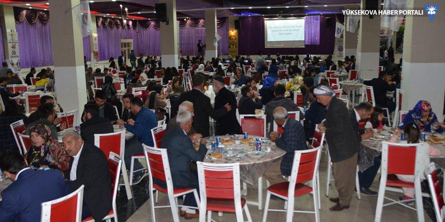 Eğitim-Bir-Sen Yüksekova'da iftar yemeği verdi