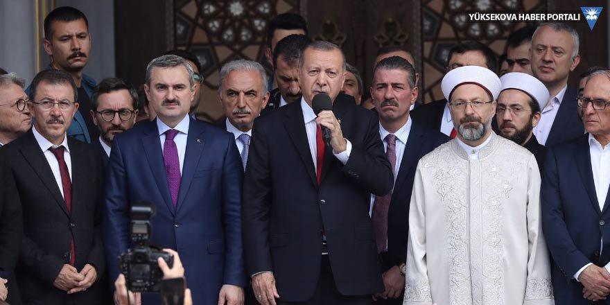 Erdoğan cami açılışında konuştu: Seçimi hırsızlara bırakmayacağız
