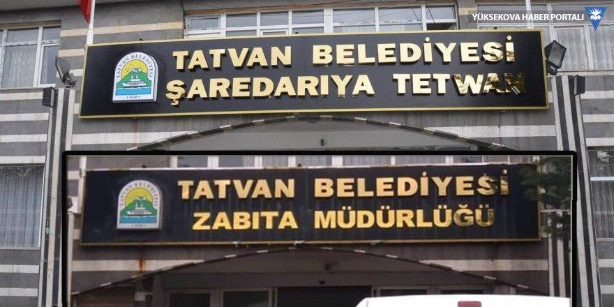 Tatvan Belediyesi de Kürtçe tabelayı indirdi