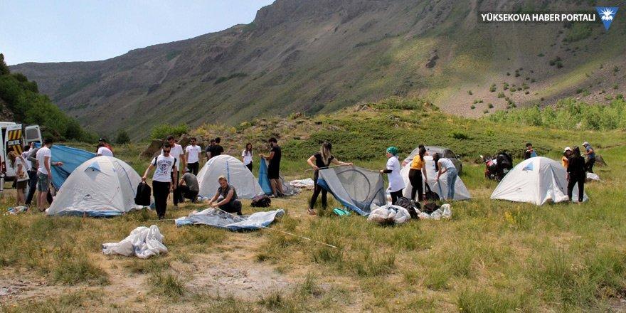 CİSAD üyeleri, Nemrut Krater Gölü'nde kamp yaptı