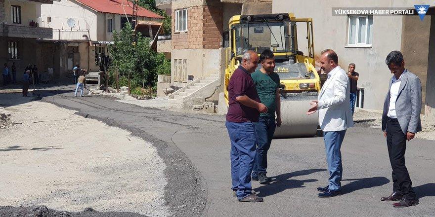 Hakkari Belediyesi'nden asfaltlama çalışması