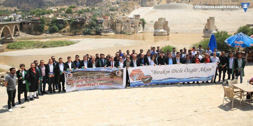 17 baro başkanı Hasankeyf'te: Barajdan vazgeçin