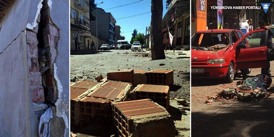 Depremde yaralanan 23 kişi hastanelere kaldırıldı