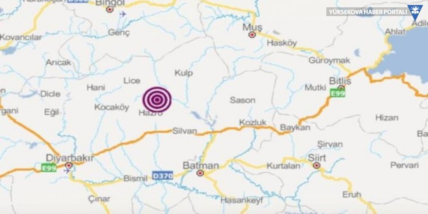 Diyarbakır'da deprem oldu