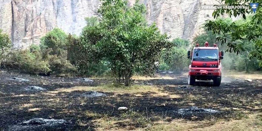Hakkari'de anız yangını söndürüldü