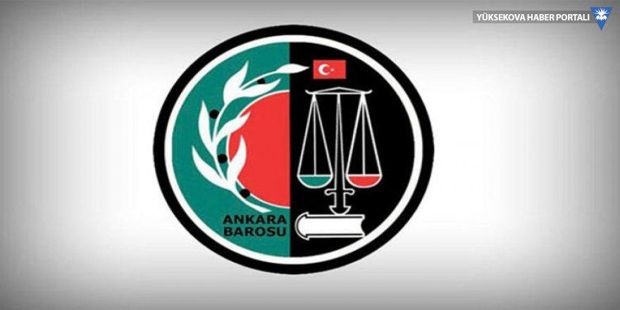 Ankara ve İzmir baroları iktidara çağrı yaptı