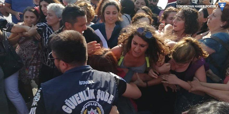 Kadınların kayyım eylemine polis müdahalesi