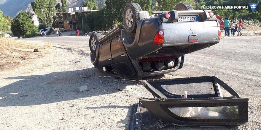Şemdinli'de trafik kazası: 1 yaralı