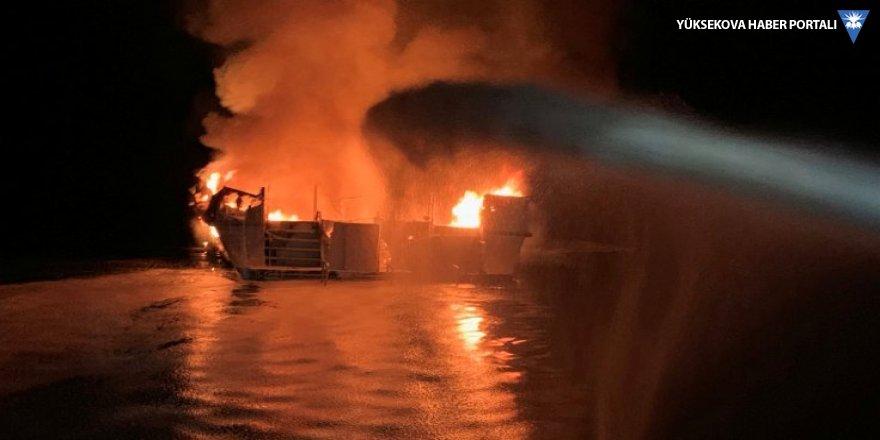 ABD'de dalış teknesinde yangın: 25 kişi öldü