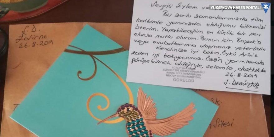 Selahattin Demirtaş Öykü Arin'e kart yolladı