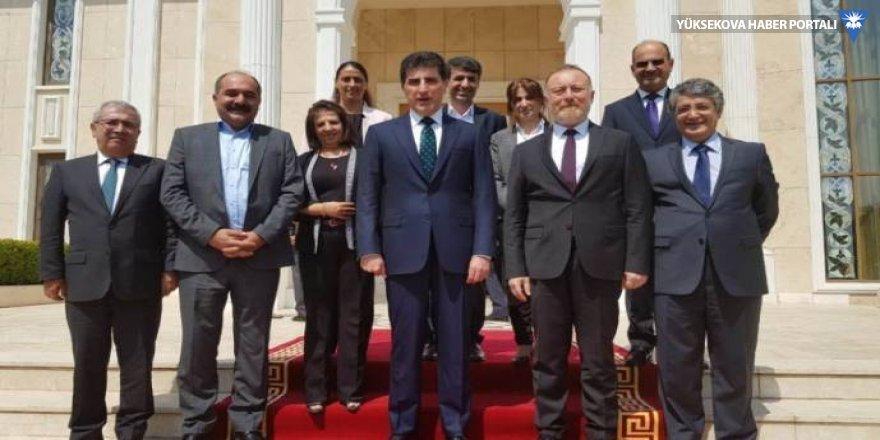 HDP ve DTK heyeti Nêçirvan Barzani ile görüştü