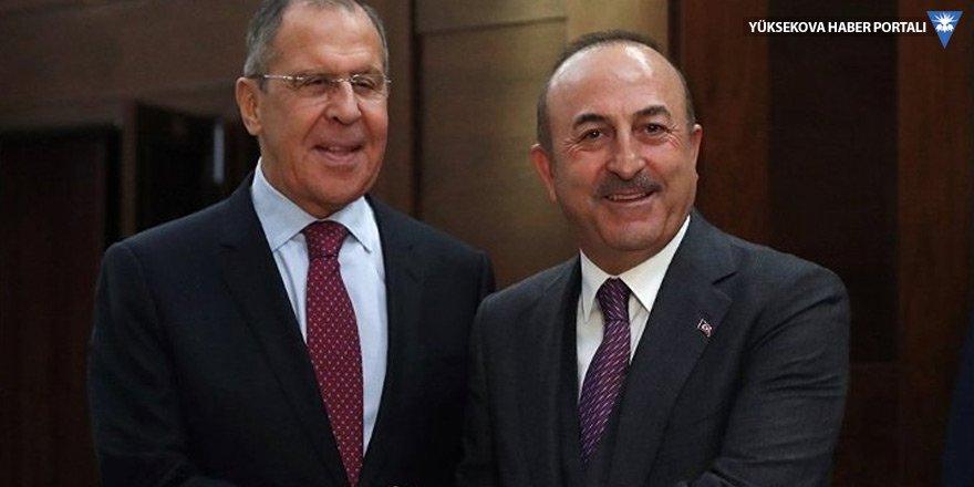Çavuşoğlu, Lavrov ile İdlib ve Astana sürecini görüştü