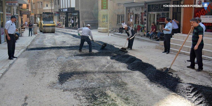 Hakkari'de bozuk yollar onarılıyor