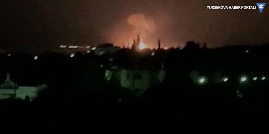 Girne'de askeri bölgedeki cephanelikte patlama