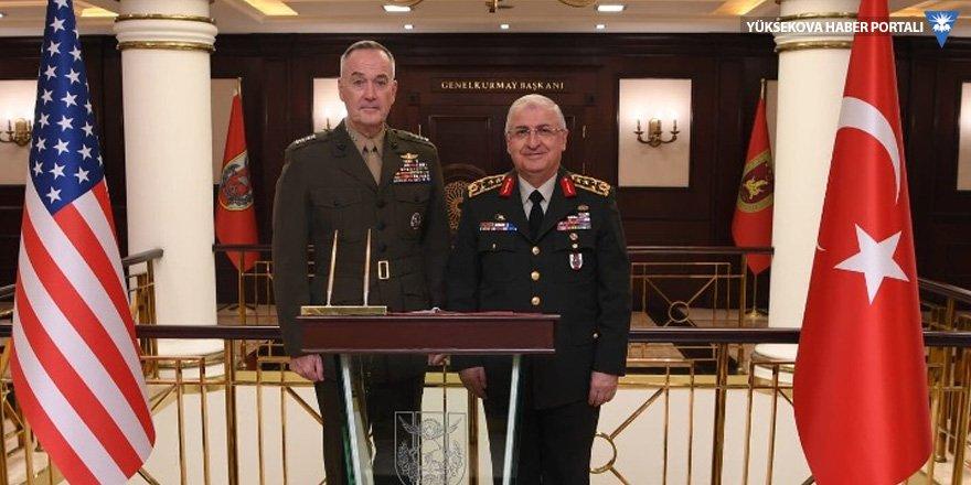 Yaşar Güler, ABD Genelkurmay Başkanı Dunford ile görüştü