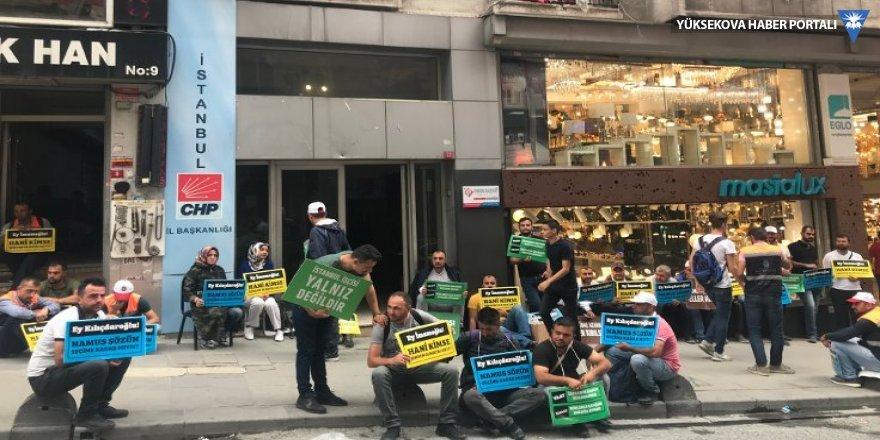 Bir eylem de CHP önünde başladı