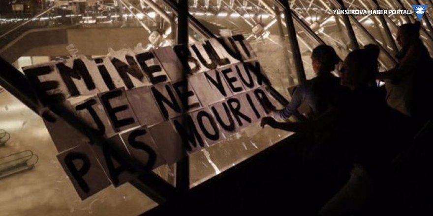 """Emine Bulut'un adı ve """"Ölmek istemiyorum"""" cümlesi Fransa sokaklarında"""