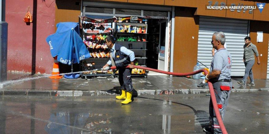 Çukurca'da temizlik çalışmaları