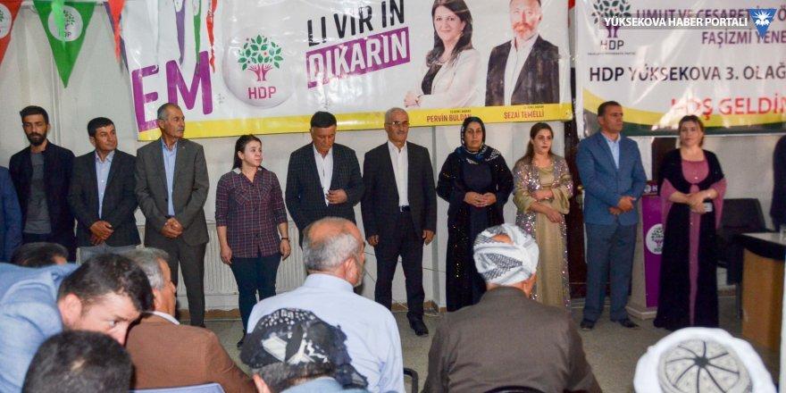 HDP Yüksekova'da Yeni Yönetimini belirledi