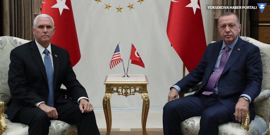 Cumhurbaşkanı Erdoğan'ın Pence'le görüşmesi sona erdi