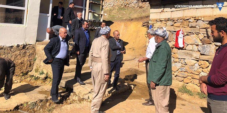 HDP Hakkari Milletvekili Sait Dede Şemdinli'de köyleri ziyaret etti