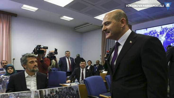 Komisyonda HDP'den Soylu'ya kayyım tepkisi