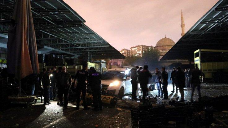 Diyarbakır sebze halinde patlama: 1 kişi öldü