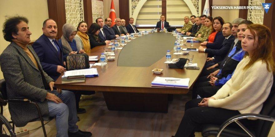 """Hakkari'de """"Kadına Yönelik Şiddetle Mücadele Koordinasyon Planı"""" toplantısı"""