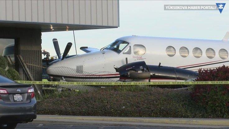 Piste girip çaldığı uçakla kaza yaptı