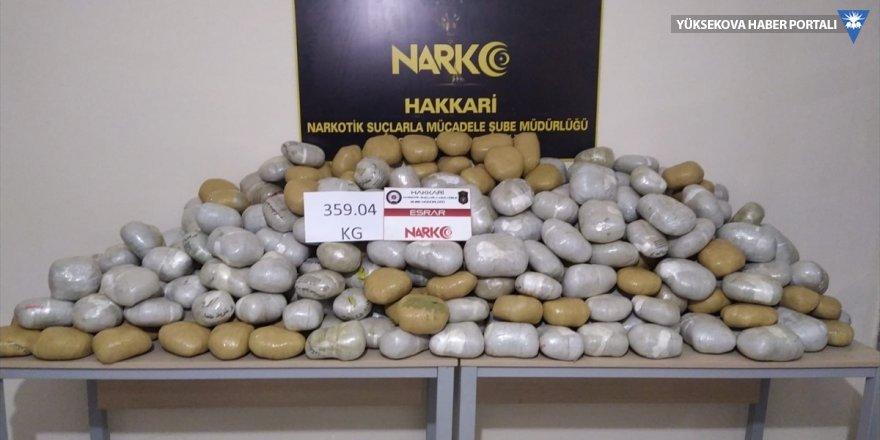 Yüksekova'da 359 kilogram esrar ele geçirildi