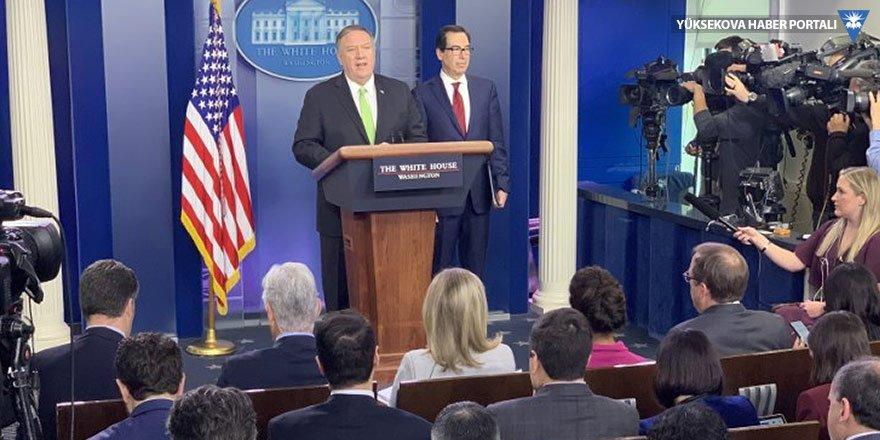 Pompeo İran'a yönelik yaptırımları açıkladı, 'Elçiliklere saldırı istihbaratı var' dedi