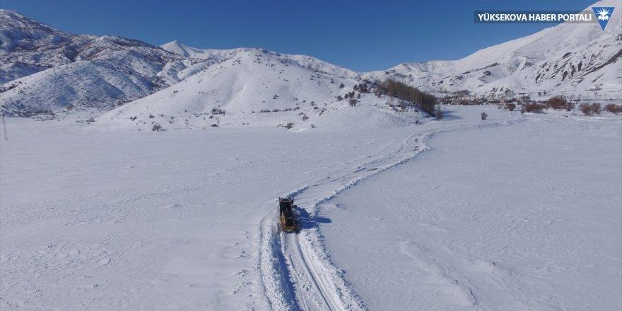 Hakkari'de kardan kapanan 43 yol açıldı