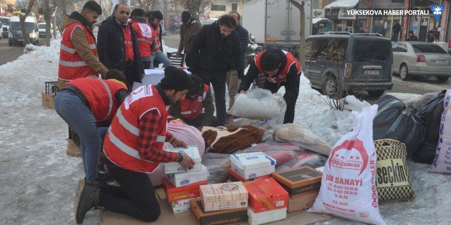 Kızılay Yüksekova Şubesinden depremzedeler için yardım kampanyası