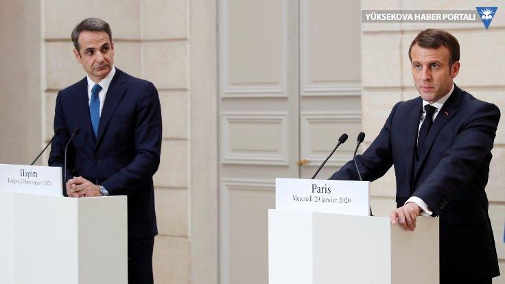 Macron: Türk gemileri, Suriyeli paralı askerler eşliğinde Libya'ya girdi