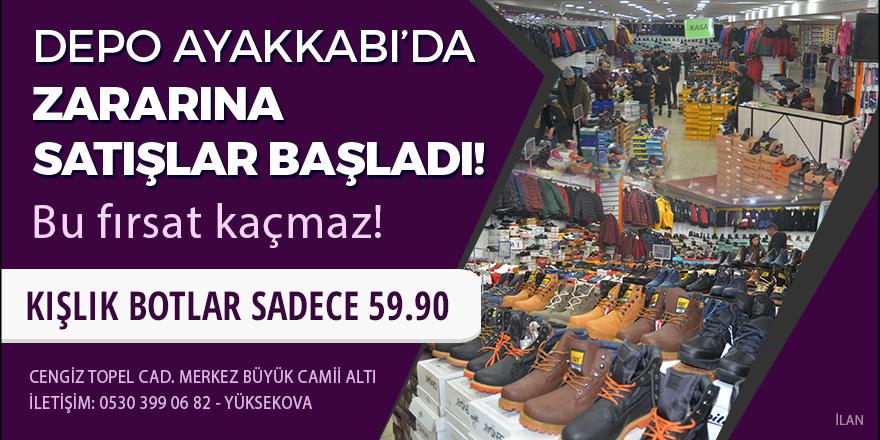 Depo Ayakkabı'da zararına satışlar başladı
