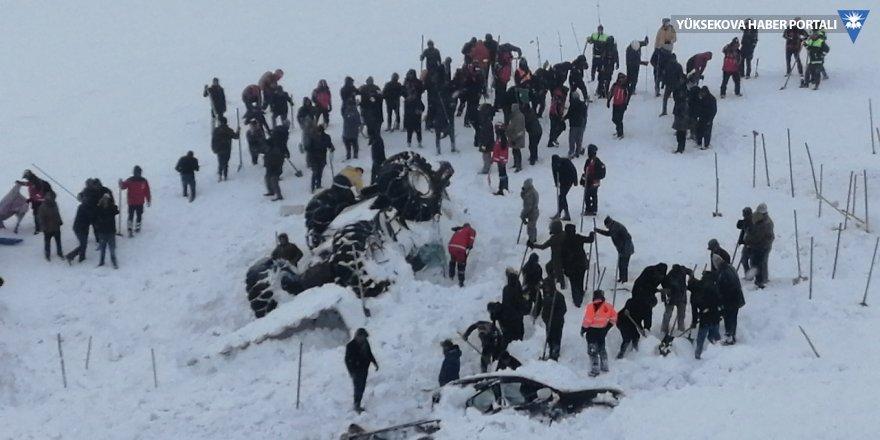 Çığ bölgesine 32 kişilik ekip gönderildi