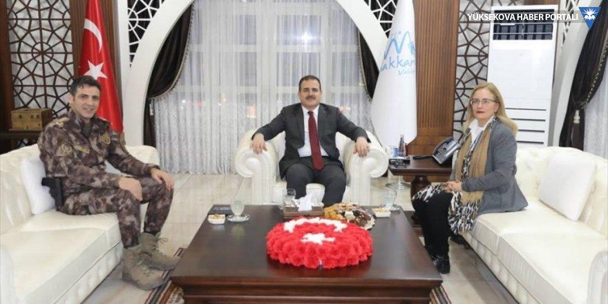 Büyükelçi Yazgan Hakkari Valisi Akbıyık'ı ziyaret etti