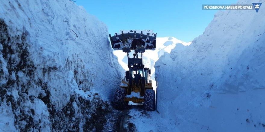 Yüksekova'da yola inen çığ 7 saatte temizlendi