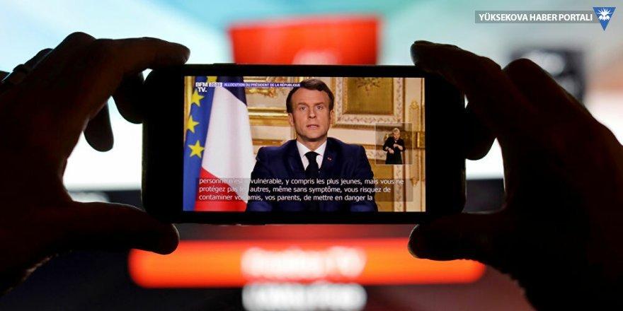 Macron: Savaştayız, evde kalın