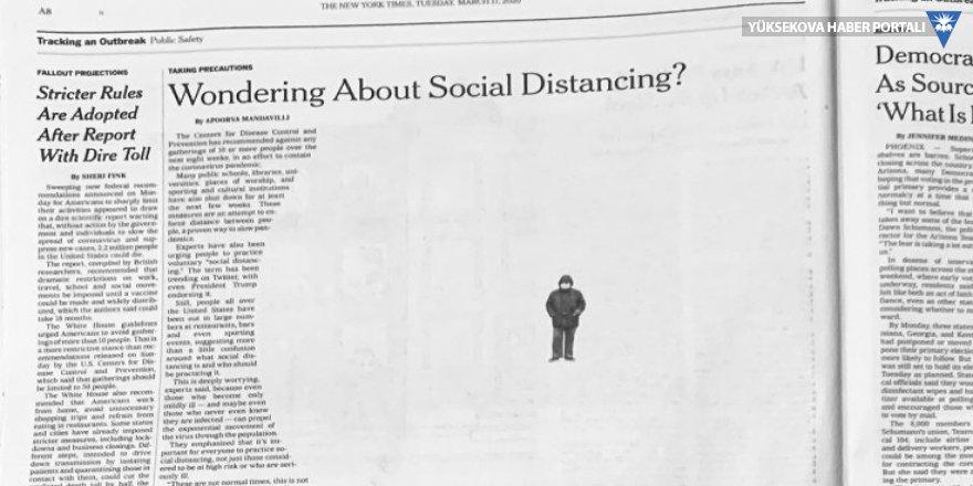 NYT sayfalarına 'virüs mesafesi'!