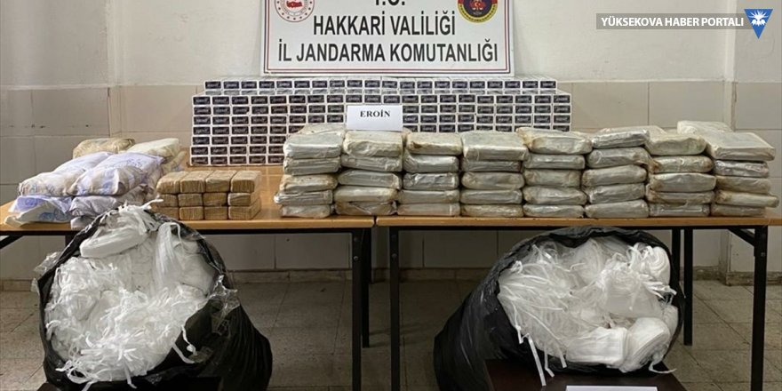 Yüksekova'da 177 kilogram eroin ve 10 bin tıbbi maske ele geçirildi
