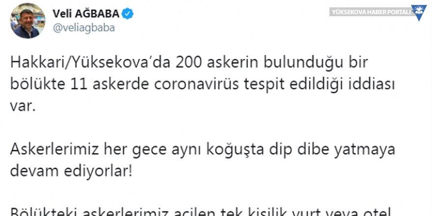 Yüksekova'da 11 askerin koronavirüse yakalandığı iddiasını Bakan'a sordu