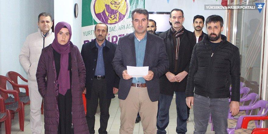 HDP'den Şemdinli halkına 'evde kalın' çağrısı