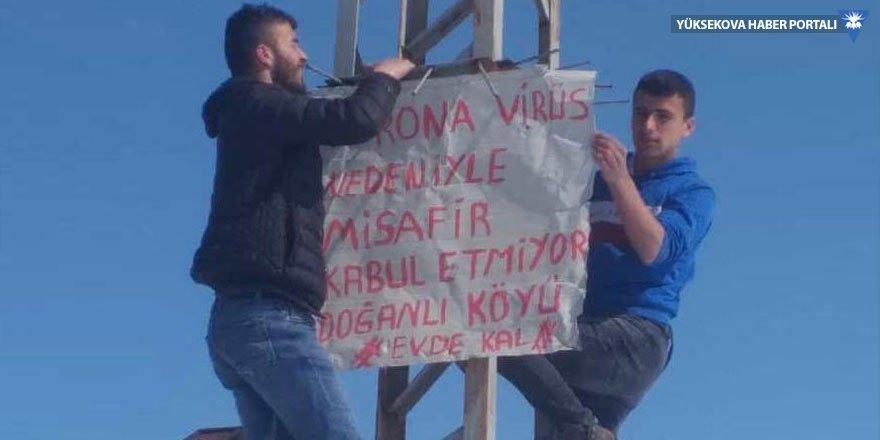 Yüksekova Doğanlı köyü sakinleri misafir kabul etmiyor