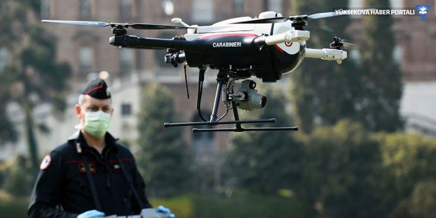 İtalya'da polisler drone kullanıyor: Hem ateş ölçüyor, hem uyarıyor