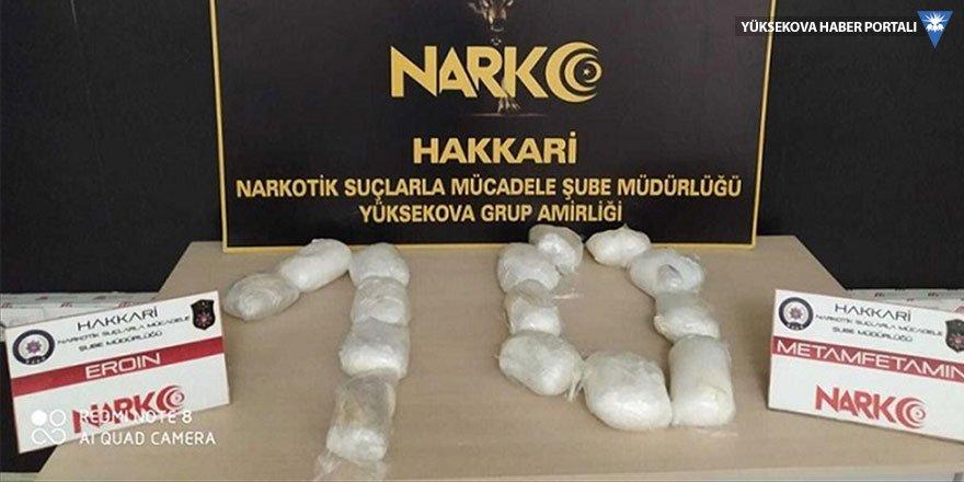 Yüksekova'da 5 kilo 400 gram eroin yakalandı