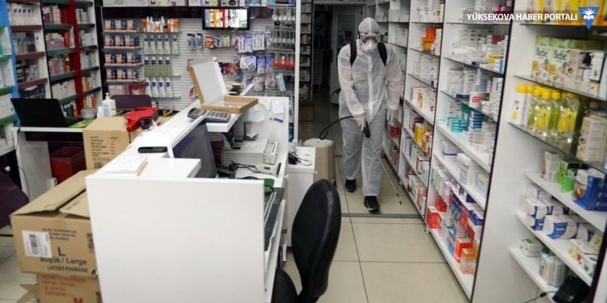 Van'daki eczaneler dezenfekte edildi