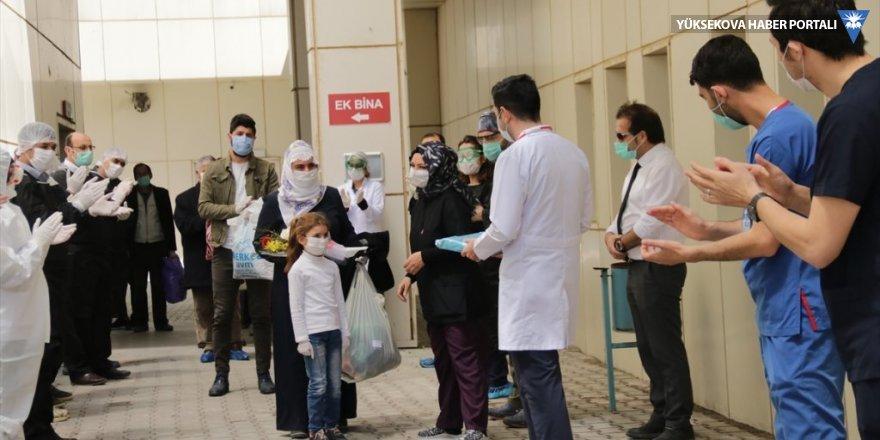 Van'da Kovid-19 tedavisi tamamlanan 7 kişi alkışlarla taburcu edildi