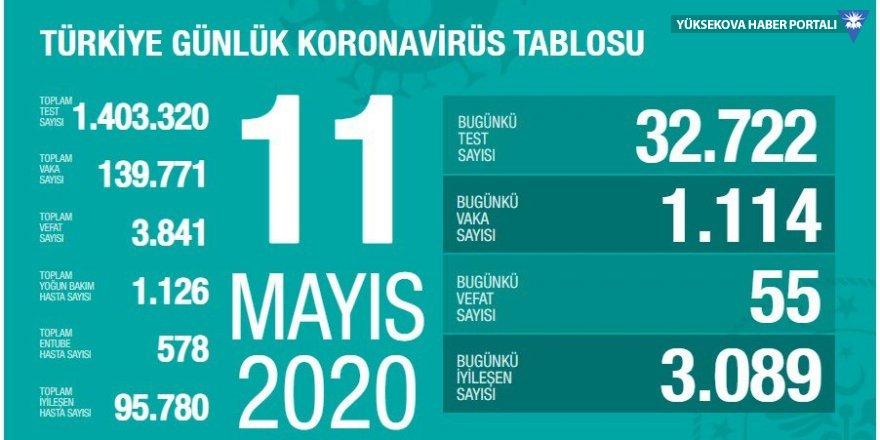 Türkiye'de son 24 saatte koronavirüsten 55 ölüm: Bugünkü vaka sayısı 1114